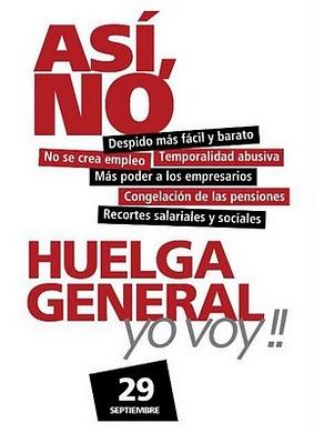 Cartel oficial de la Huelga General