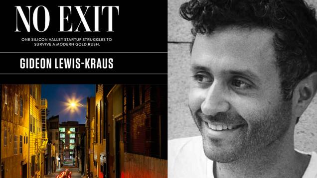 La portada del libro-reportaje y la foto de su autor, Gideon Lewis-Kraus.