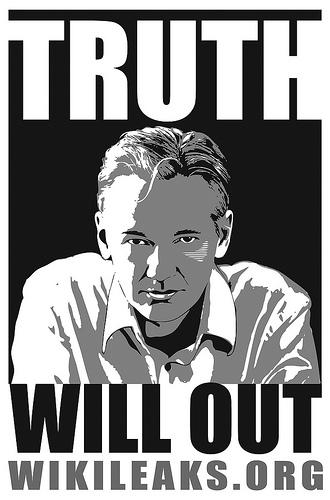Imagen de apoyo a Wikileaks y a Julian Assange