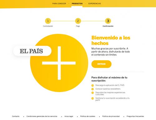 Cómo podría mejorar el proceso de suscripción a El País